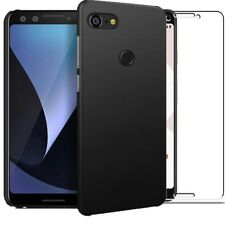 for Google Pixel 3 Case Slim Hard Back Cover & Glass Screen Protector