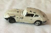 Vintage Yatming White Jaguar E 4.2 Made In Hong Kong