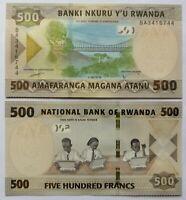 RUANDA RWANDA 500 francos, emisión 2019, P-42. Plancha UNC.