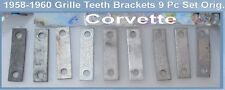 Corvette 1958 1959 1960 Grille Teeth Original Backing Plates USED