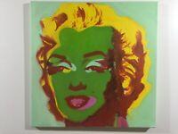 Andy Warhol Marilyn Monroe olio su tela 2017  60x60 cm Falso d Autore