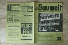 NEUE Bauwelt Zeitschrift Bauwesen Heft 33 13.8.1951 Architektur Freiheitsglocke