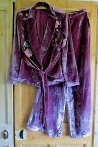 Free People Perfect Illusion Velvet Jacket & Trouser Set Size Uk 10 RRP $450!
