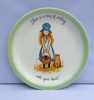 Holly Hobbie Collectors Edition Plate Love Is A Way Of Smiling With Heart 10.5""