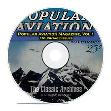 Popular Aviation Magazine, Vol 1, 151 Vintage Flight Issues, 1927-1944, DVD D07