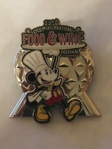 DISNEY EPCOT SPACESHIP EARTH FOOD & WINE  FESTIVAL 2018 MICKEY MOUSE PIN ON PIN