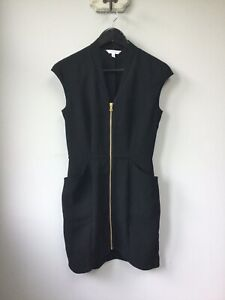 Gorgeous Ladies & Other Stories Black Zip Up Dress With Pockets, UK Size 8, EU