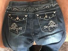 Rose Royce Women's 11/12 (30) Bootcut Jeans Denim Embellished Bling Pockets NWT
