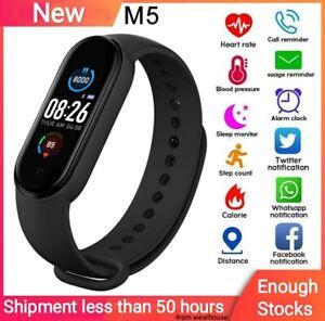 M5 Smart Fitness Tracker Band Wristband Pedometer Sport Smart Watch Clour Screen