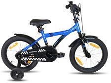 PROMETHEUS Kinderfahrrad 16 Zoll Kinderrad Blau Schwarz ab 5 Jahren Modell 2016