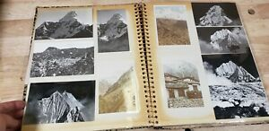 Vtg Photo Album 70s 80s Nepal Vacation Travel Photos People Mountain Nature