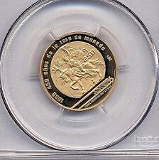 GOLD 1986 Proof World Cup Soccer coin, Mexico City, PCGS PR68 DCAM,  Deep Cameo