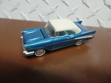 Loose Johnny Lightning Blue 1957 Chevy Bel Air w/Real Riders