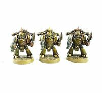 WARHAMMER 40K ARMY CHAOS SPACE MARINES X3 MARINES   PAINTED