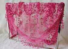 Women Lace Tassel Rose Floral Knit Mantilla Triangle Hollow Scarf Shawl Wraps CH