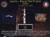 Apollo-Soyuz Flown in Space - Smaller Piece of Command Module Gold Kapton Foil
