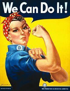 Locandina WE CAN DO IT! Rosie the Riveter Icona Femminismo Movimento Propaganda