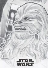 Star Wars A Solo Story, Artist sketch Card Chewbacca by ' James Oriley'