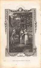 "Richard Corbould, ""Ophelia"",  Fielding, 1785, older woman restraining,    zf40"