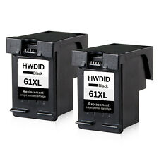 2 Pack Black Ink Cartridge Replacement For HP 61XL Deskjet 2540 2543 3000 3050