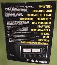 original McIntosh MC2205 MC 2205 amplfier brochure