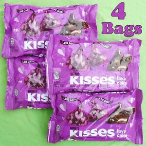 4 Bags HERSHEY'S Kisses Lava Cake Dark Chocolate 7 oz. Each New & Sealed BB11/21
