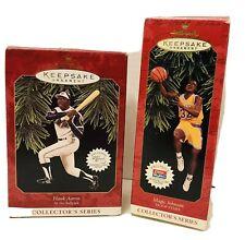 Hallmark Collectible Keepsake Christmas Ornaments, Magic Johnson & Hank Aaron