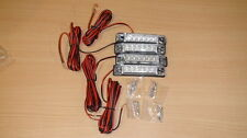 4pcs Utility Strip Light White 4 inch Vehicles Decoration 12V 6 LEDs Clear Lens