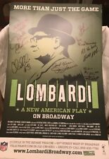 VINCE LOMBARDI BROADWAY PLAY POSTER CAST SIGNED RARE HTF W/ PLAYBILL NO COA
