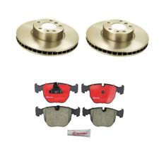 BMW E38 740i 1997-2001 Complete Front Disc Brake Pads Kit With Rotors Brembo NEW