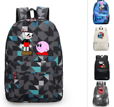 Game Cuphead Mochila canvas Backpack Teenagers Schoolbag Laptop bag Travel bag