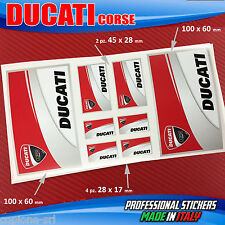 Set n.8 adesivi DUCATI Corse Scuderia Moto Casco