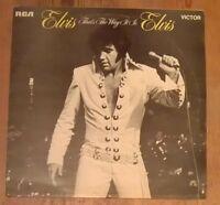 Elvis Presley That's The Way It Is Vinyl LP Album 33rpm 1971 RCA Victor SF8162