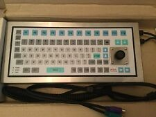 Stainless Steel Intrinsically Safe Industrial Keyboard with Integral Mouse