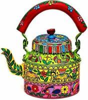 Hand Painted Kettle Meenakari Tea Pot Aluminum Home Décor Tea Coffee Pot 1L Gift