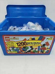 1200 piece LEGO Plastic Bucket Set # 3033 used ⭐100% COMPLETE & FULLY COUNTED