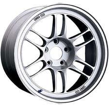 Enkei RPF1 18x10 5x100 +38 silver WRX 04 STI TC FRS BRZ GT86 Hella Flush Fitment