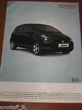 *AP36= HONDA JAZZ =PUBBLICITA'=ADVERTISING=WERBUNG=COUPURE=