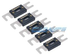 NEW SET OF FIVE TSUNAMI 80 AMP PLATINUM NICKEL CAR STEREO ANL WAFER FUSES INLINE