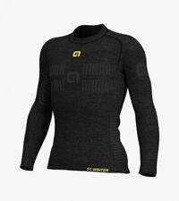 "Ale Cycling Base Layer Long Sleeve Jersey ""Seamless Wool"" Men|Grey-Size S/M"