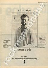 John Martyn Sunday's Child Salford University MM5 LP/Tour Advert 1975