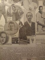 DEC 30, 1923 BILLIARDS NEWSPAPER PAGE #J7124- HARRY GREB BOXING +, WILLIE HOPPE