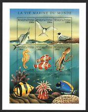 Comoros Islands 1998 Marine Life FISH BIRDS - MNH Miniature Sheet - (24)