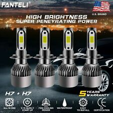 4 Bulbs Kit H7 + H7 Combo Total 3920W 588000Lm Led Headlight High Low Beam 6000K (Fits: Cadillac Catera)