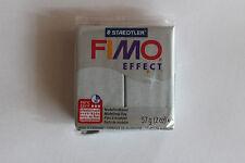 Fimo Modelliermasse FIMO® soft, Effekt glitter silber