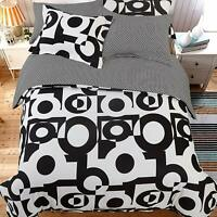 NTBAY 5 Pieces Black and White Fashion Simple Microfiber Duvet Cover Set King