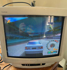 "White 90s SONY Trinitron KV-M1421U Colour 14"" CRT TV Retro Gaming Monitor SCART"