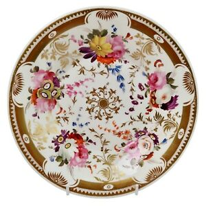 Davenport plate, rich gilding and flowers, ca 1820