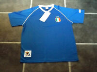 BNWT MENS XL BLUE ITALY 2010 FIFA WORLD CUP ITALIA FOOTBALL T SHIRT CHEST 46""
