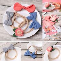 Elastic Bowknot Floral Baby Headband Hair Accessories Nylon Hairband Hair rope